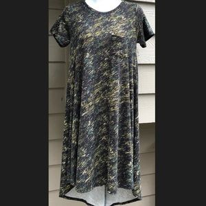LuLaRoe Dresses - Lularoe Camo Carly Dress XXS Army Green Black